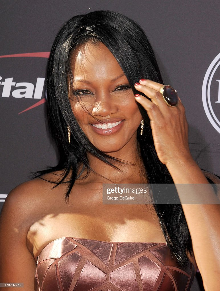 Actress <a gi-track='captionPersonalityLinkClicked' href=/galleries/search?phrase=Garcelle+Beauvais&family=editorial&specificpeople=203112 ng-click='$event.stopPropagation()'>Garcelle Beauvais</a> arrives at the 2013 ESPY Awards at Nokia Theatre L.A. Live on July 17, 2013 in Los Angeles, California.