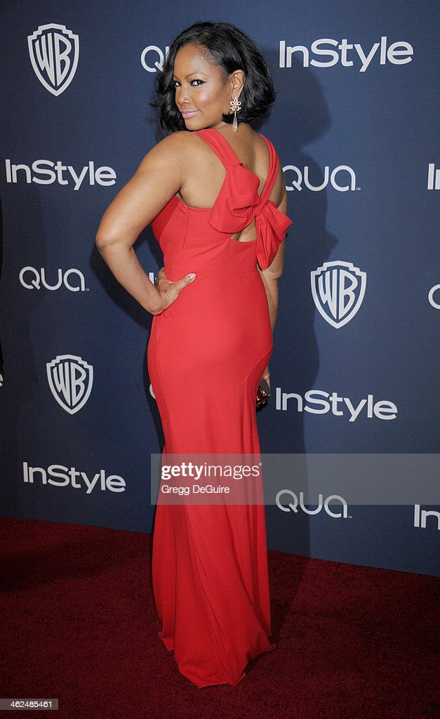 Actress Garcelle Beauvais arrives at the 2014 InStyle And Warner Bros. 71st Annual Golden Globe Awards post-party at The Beverly Hilton Hotel on January 12, 2014 in Beverly Hills, California.
