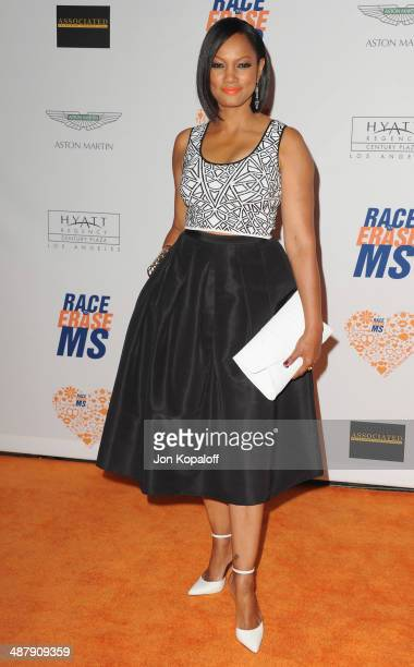Actress Garcelle Beauvais arrives at the 21st Annual Race To Erase MS Gala at the Hyatt Regency Century Plaza on May 2 2014 in Century City California