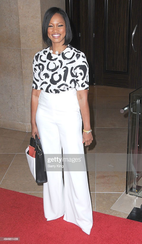 Actress <a gi-track='captionPersonalityLinkClicked' href=/galleries/search?phrase=Garcelle+Beauvais&family=editorial&specificpeople=203112 ng-click='$event.stopPropagation()'>Garcelle Beauvais</a> arrives at The Helping Hand Of Los Angeles Mother's Day Luncheon on May 9, 2014 at The Beverly Hilton Hotel in Beverly Hills, California.