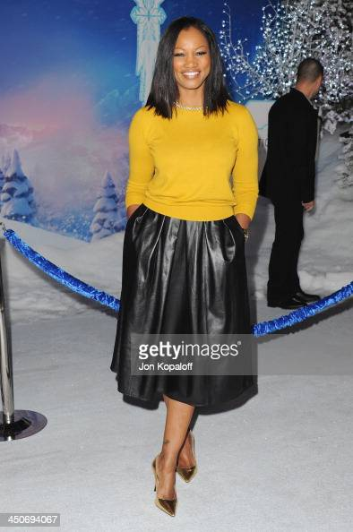 Actress Garcelle Beauvais arrives at the Los Angeles Premiere 'Frozen' at the El Capitan Theatre on November 19 2013 in Hollywood California