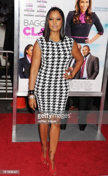 Actress Garcelle Beauvais arrives at the Los Angeles premiere of 'Baggage Claim' at Regal Cinemas LA Live on September 25 2013 in Los Angeles...