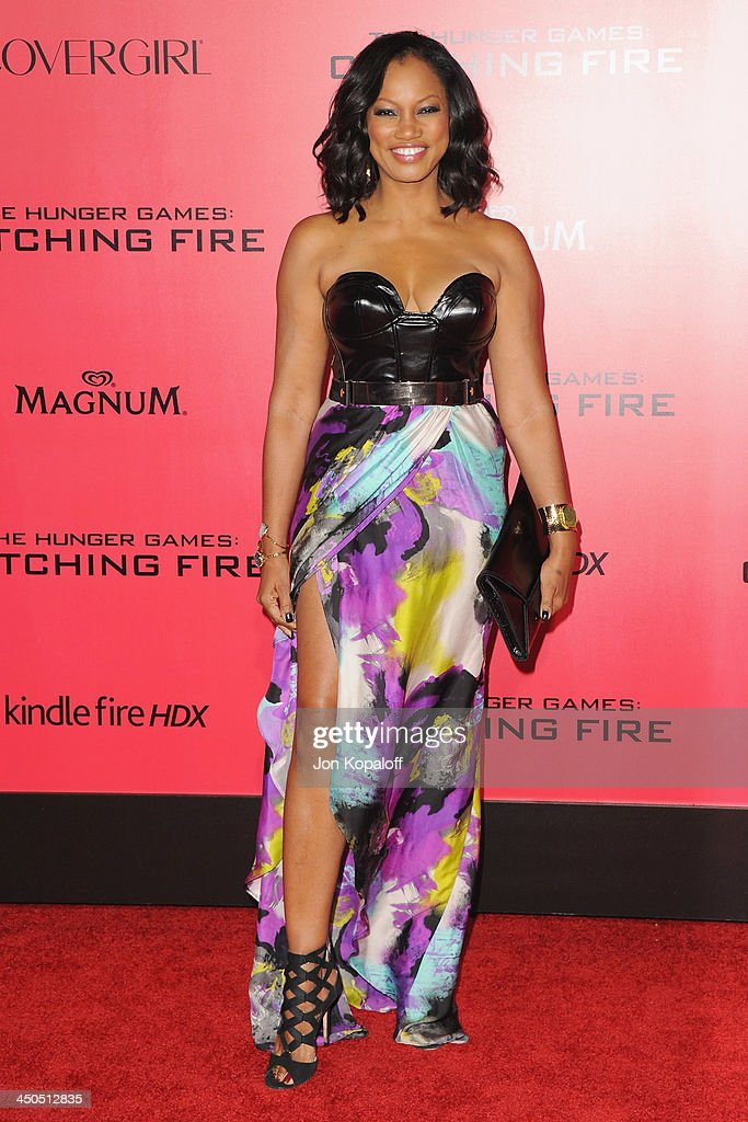 Actress Garcelle Beauvais arrives at the Los Angeles Premiere 'The Hunger Games: Catching Fire' at Nokia Theatre L.A. Live on November 18, 2013 in Los Angeles, California.