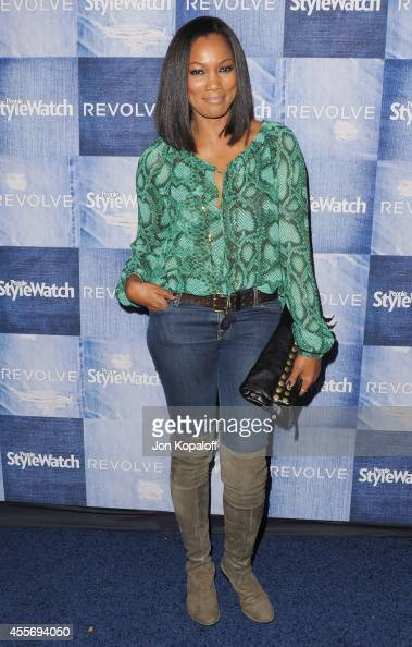 Actress Garcelle Beauvais arrives at the People StyleWatch 4th Annual Denim Awards Issue at The Line on September 18 2014 in Los Angeles California