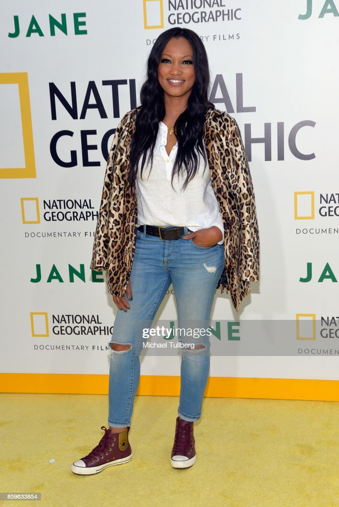 Actress Garcelle Beauvais arrives at the premiere of National Geographic Documentary Films' 'Jane' at the Hollywood Bowl on October 9, 2017 in Hollywood, California.