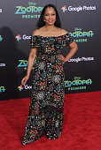 Actress Garcelle Beauvais arrives at the premiere of Walt Disney Animation Studios' 'Zootopia' at the El Capitan Theatre on February 17 2016 in...