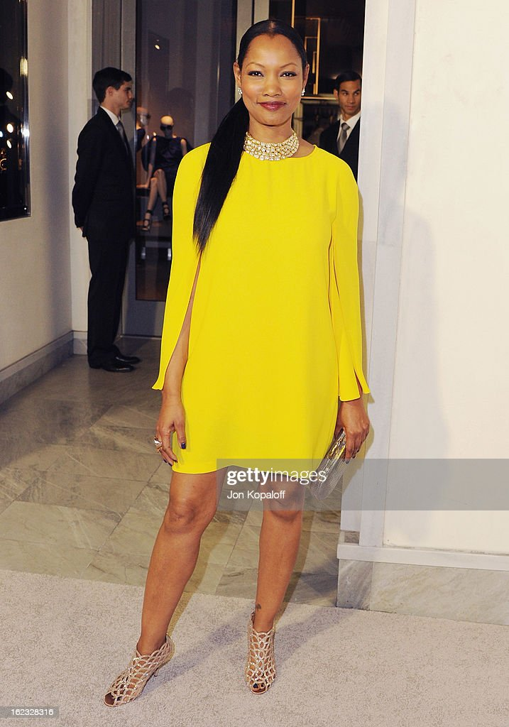 Actress Garcelle Beauvais arrives at Tom Ford Cocktails In Support Of Project Angel Food Media at TOM FORD on February 21, 2013 in Beverly Hills, California.