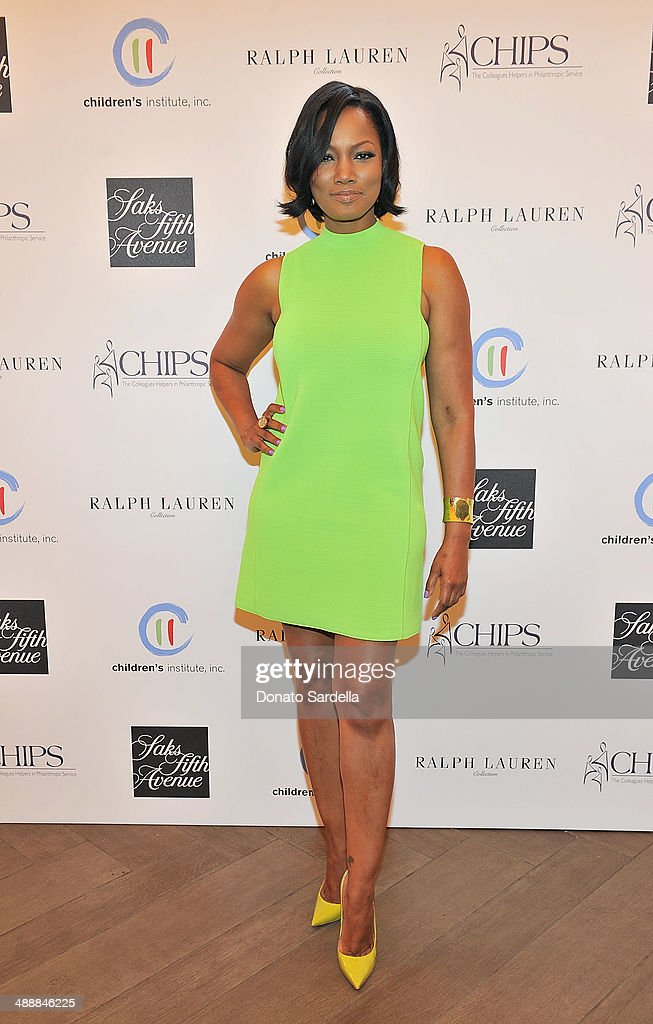 Actress <a gi-track='captionPersonalityLinkClicked' href=/galleries/search?phrase=Garcelle+Beauvais&family=editorial&specificpeople=203112 ng-click='$event.stopPropagation()'>Garcelle Beauvais</a> attend C.H.I.P.S Colleagues Helpers in Philanthropic Service Children's Institute annual charity luncheon at The Four Seasons Hotel on May 8, 2014 in Beverly Hills, California.