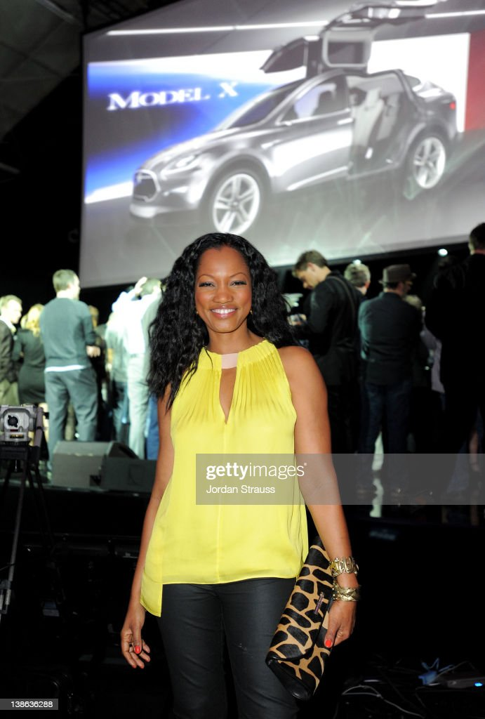 Actress Garcelle Beauvais attends Tesla Worldwide Debut of Model X on February 9, 2012 in Los Angeles, California.