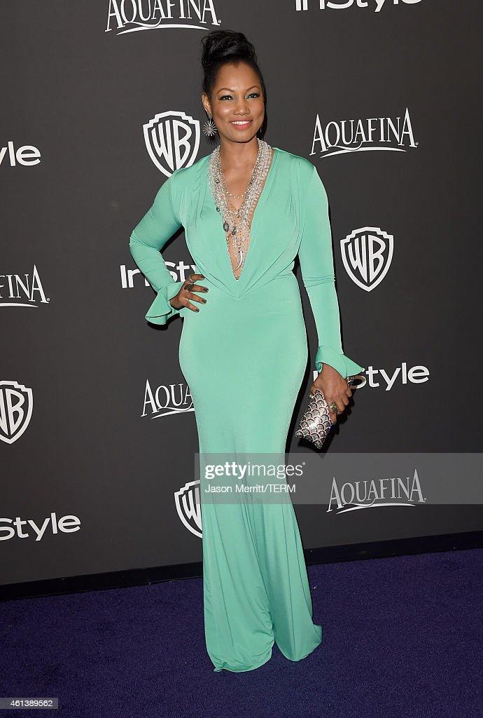 Actress Garcelle Beauvais attends the 2015 InStyle And Warner Bros 72nd Annual Golden Globe Awards PostParty at The Beverly Hilton Hotel on January...