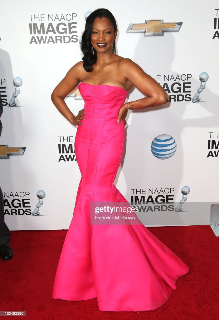 Actress <a gi-track='captionPersonalityLinkClicked' href=/galleries/search?phrase=Garcelle+Beauvais&family=editorial&specificpeople=203112 ng-click='$event.stopPropagation()'>Garcelle Beauvais</a> attends the 44th NAACP Image Awards at The Shrine Auditorium on February 1, 2013 in Los Angeles, California.