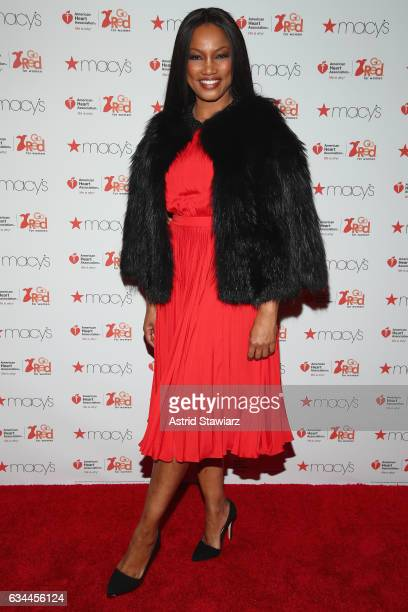 Actress Garcelle Beauvais attends the American Heart Association's Go Red For Women Red Dress Collection 2017 presented by Macy's at Fashion Week in...