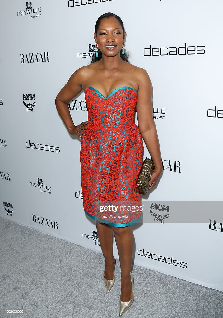 Actress Garcelle Beauvais attends the Harper's BAZAAR celebration for the new Bravo series 'Dukes of Melrose' at The Terrace at Sunset Tower on February 28, 2013 in West Hollywood, California.