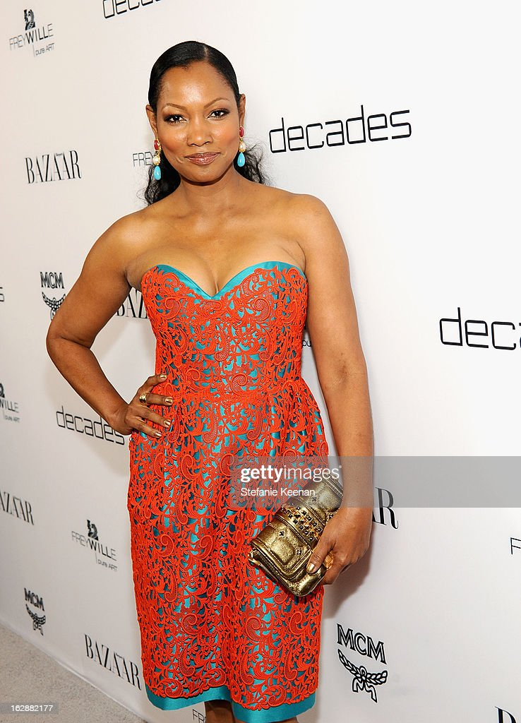 Actress Garcelle Beauvais attends the Harper's BAZAAR celebration of the launch of Bravo TV's 'The Dukes of Melrose' starring Cameron Silver and Christos Garkinos at Sunset Tower on February 28, 2013 in West Hollywood, California.