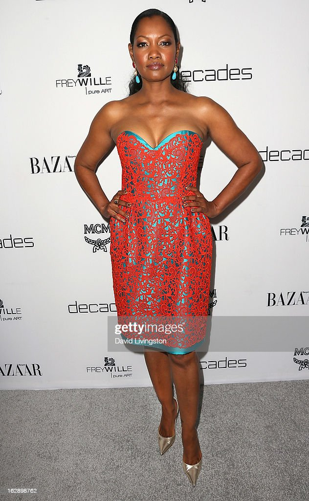 Actress Garcelle Beauvais attends the Harper's BAZAAR celebration of Cameron Silver and Christos Garkinos of Decades new Bravo series 'Dukes of Melrose' at The Terrace at Sunset Tower on February 28, 2013 in West Hollywood, California.