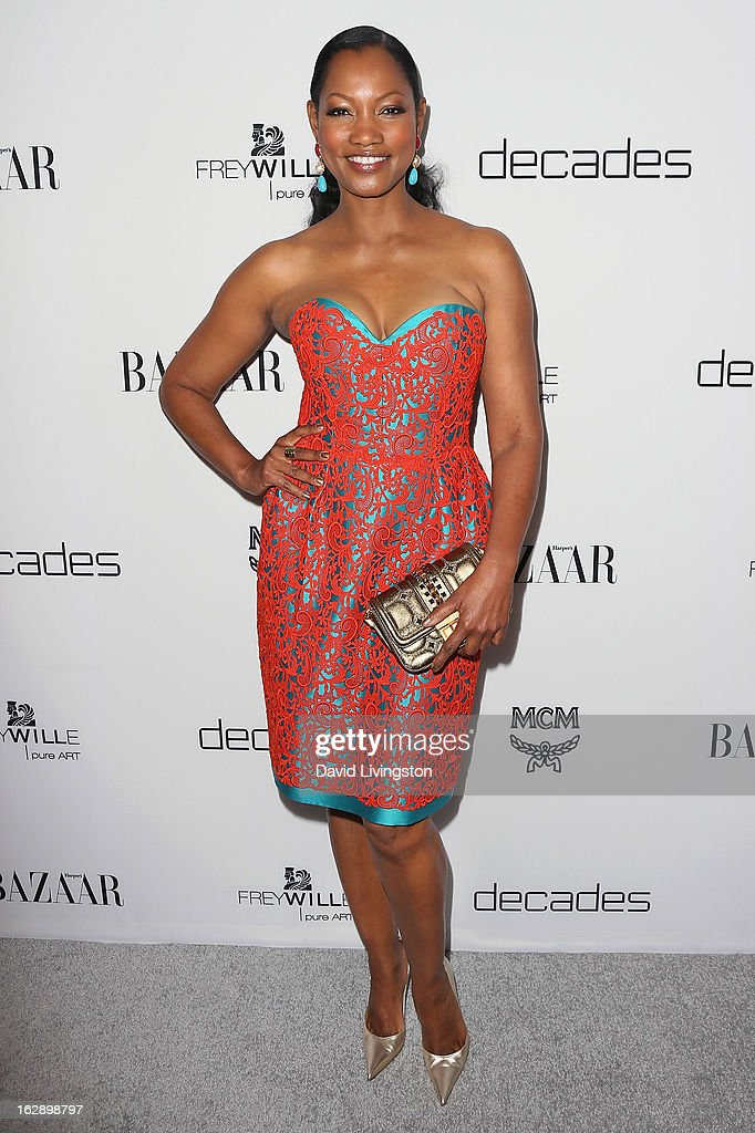 Actress <a gi-track='captionPersonalityLinkClicked' href=/galleries/search?phrase=Garcelle+Beauvais&family=editorial&specificpeople=203112 ng-click='$event.stopPropagation()'>Garcelle Beauvais</a> attends the Harper's BAZAAR celebration of Cameron Silver and Christos Garkinos of Decades new Bravo series 'Dukes of Melrose' at The Terrace at Sunset Tower on February 28, 2013 in West Hollywood, California.