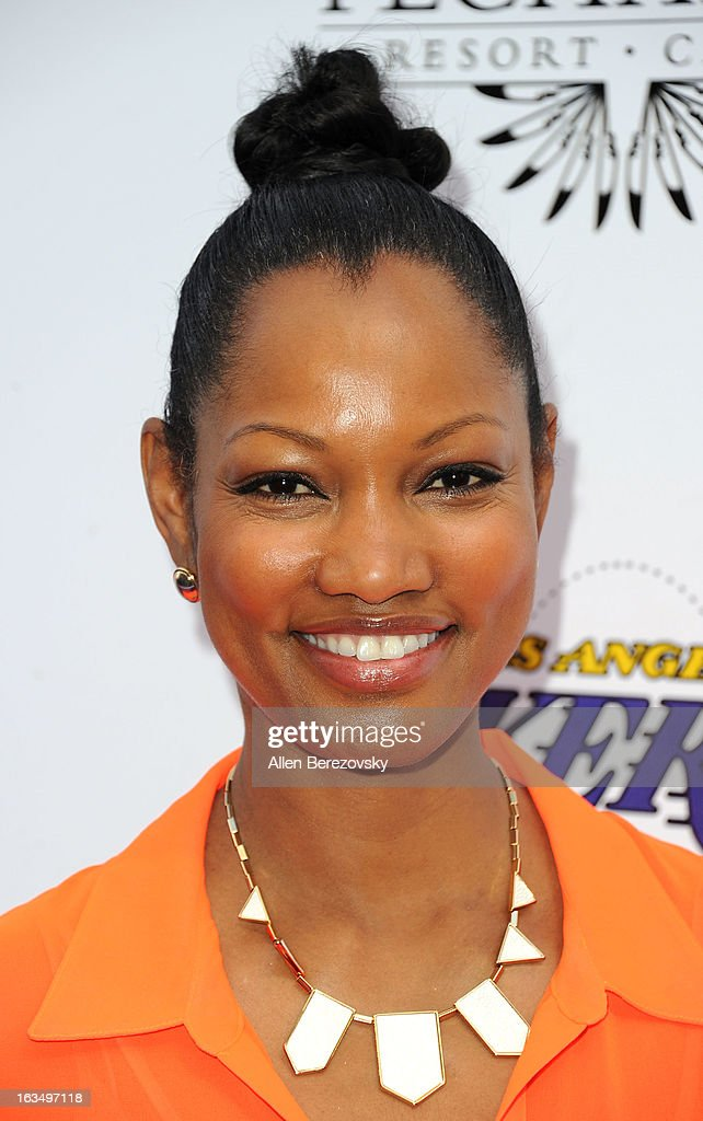 Actress <a gi-track='captionPersonalityLinkClicked' href=/galleries/search?phrase=Garcelle+Beauvais&family=editorial&specificpeople=203112 ng-click='$event.stopPropagation()'>Garcelle Beauvais</a> attends the Lakers Casino Night fundraiser benefiting the Lakers Youth Foundation at Club Nokia on March 10, 2013 in Los Angeles, California.