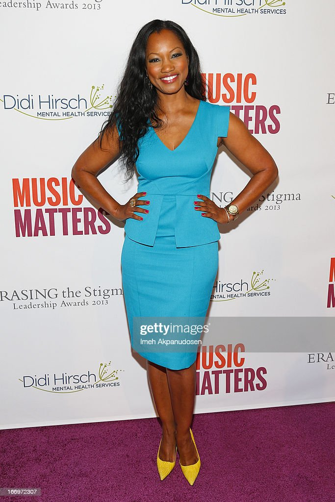 Actress <a gi-track='captionPersonalityLinkClicked' href=/galleries/search?phrase=Garcelle+Beauvais&family=editorial&specificpeople=203112 ng-click='$event.stopPropagation()'>Garcelle Beauvais</a> attends the 'Music Matters' 17th Annual Erasing The Stigma Awards Luncheon Presented By Didi Hirsch Mental Health Services at The Beverly Hilton Hotel on April 18, 2013 in Beverly Hills, California.