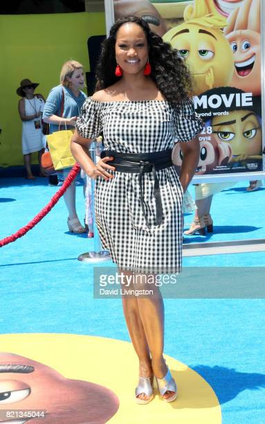 Actress Garcelle Beauvais attends the premiere of Columbia Pictures and Sony Pictures Animation's 'The Emoji Movie' at Regency Village Theatre on...