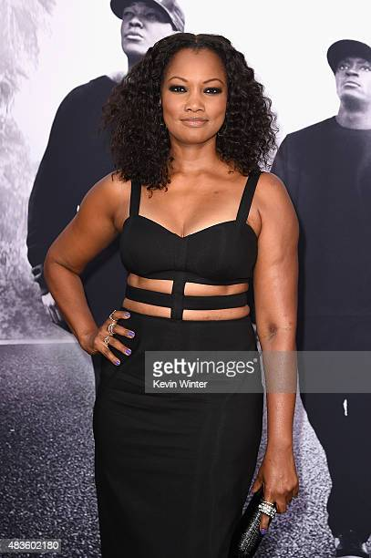 Actress Garcelle Beauvais attends the Universal Pictures and Legendary Pictures' premiere of 'Straight Outta Compton' at Microsoft Theater on August...