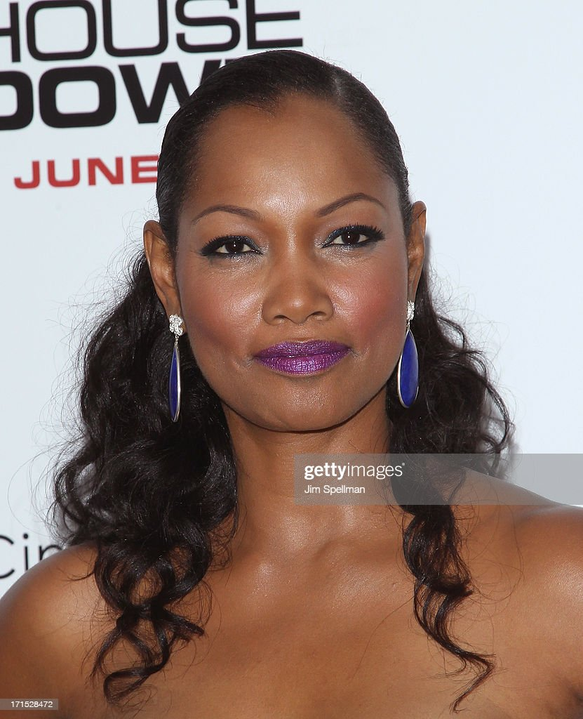 Actress <a gi-track='captionPersonalityLinkClicked' href=/galleries/search?phrase=Garcelle+Beauvais&family=editorial&specificpeople=203112 ng-click='$event.stopPropagation()'>Garcelle Beauvais</a> attends 'White House Down' New York Premiere at Ziegfeld Theater on June 25, 2013 in New York City.