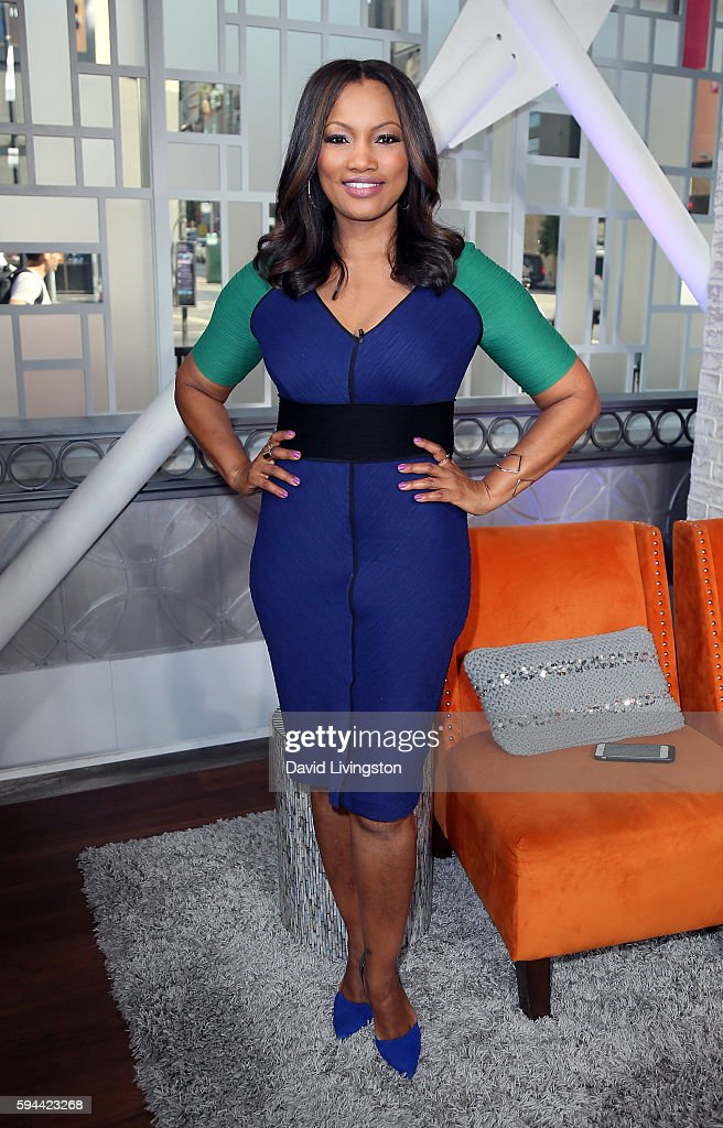 Actress Garcelle Beauvais poses at Hollywood Today Live at W Hollywood on August 23 2016 in Hollywood California