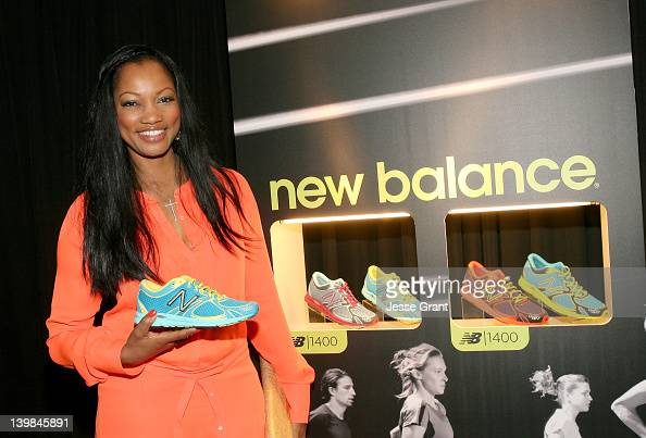 Actress Garcelle Beauvais poses with New Balance in the Official Presenter Gift Lounge at the 2012 Film Independent Spirit Awards at Santa Monica...