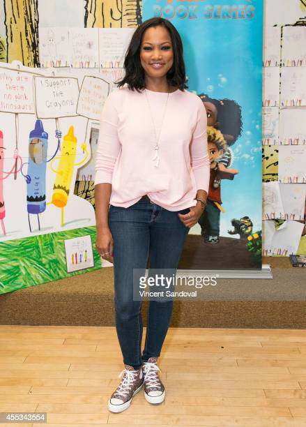 Actress Garcelle Beauvais signs and discusses her new children's book 'I Am Living In 2 homes' at Barnes Noble bookstore at The Grove on September 12...