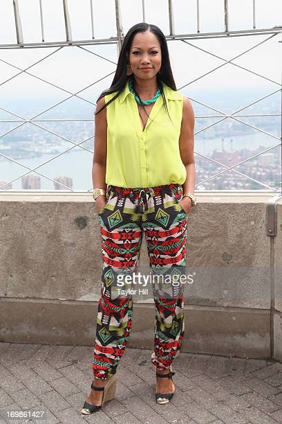 Actress Garcelle Beauvais visits the Empire State Building to promote 'White House Down' on June 3 2013 in New York United States