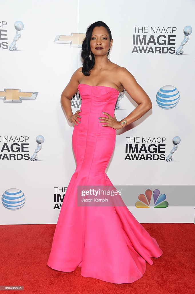 Actress Garcelle Beuavais arrives at the 44th NAACP Image Awards held at The Shrine Auditorium on February 1, 2013 in Los Angeles, California.