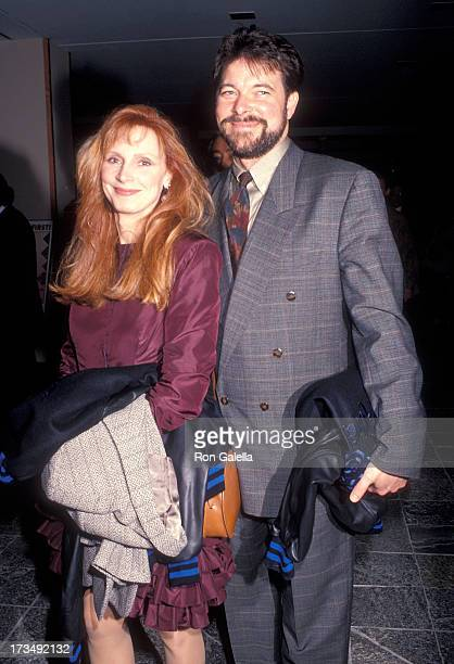 Actress Gates McFadden and actor Jonathan Frakes attend Education First's First Annual First Annual Vision Award Salute to Gene Roddenberry and 'The...