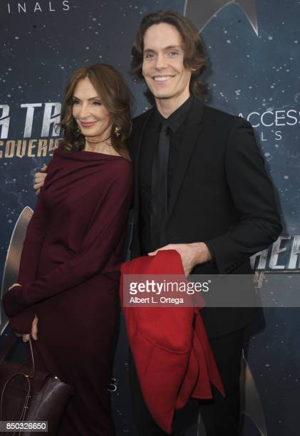 Actress Gates McFadden and son James McFadden Talbot arrive for the Premiere Of CBS's 'Star Trek Discovery' held at The Cinerama Dome on September 19...