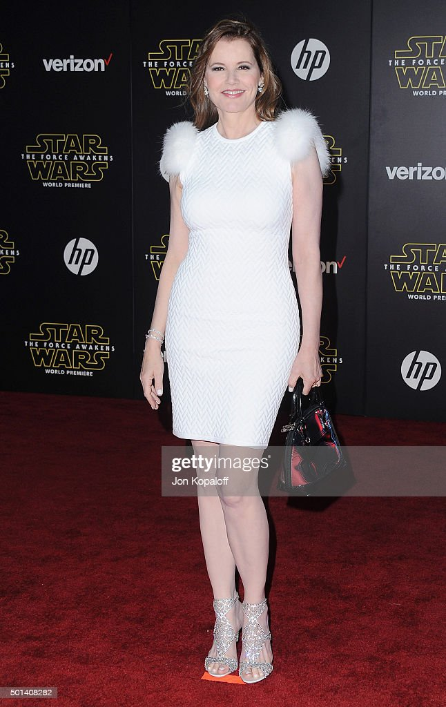 Actress Geena Davis arrives at the Los Angeles Premiere 'Star Wars: The Force Awakens' on December 14, 2015 in Hollywood, California.