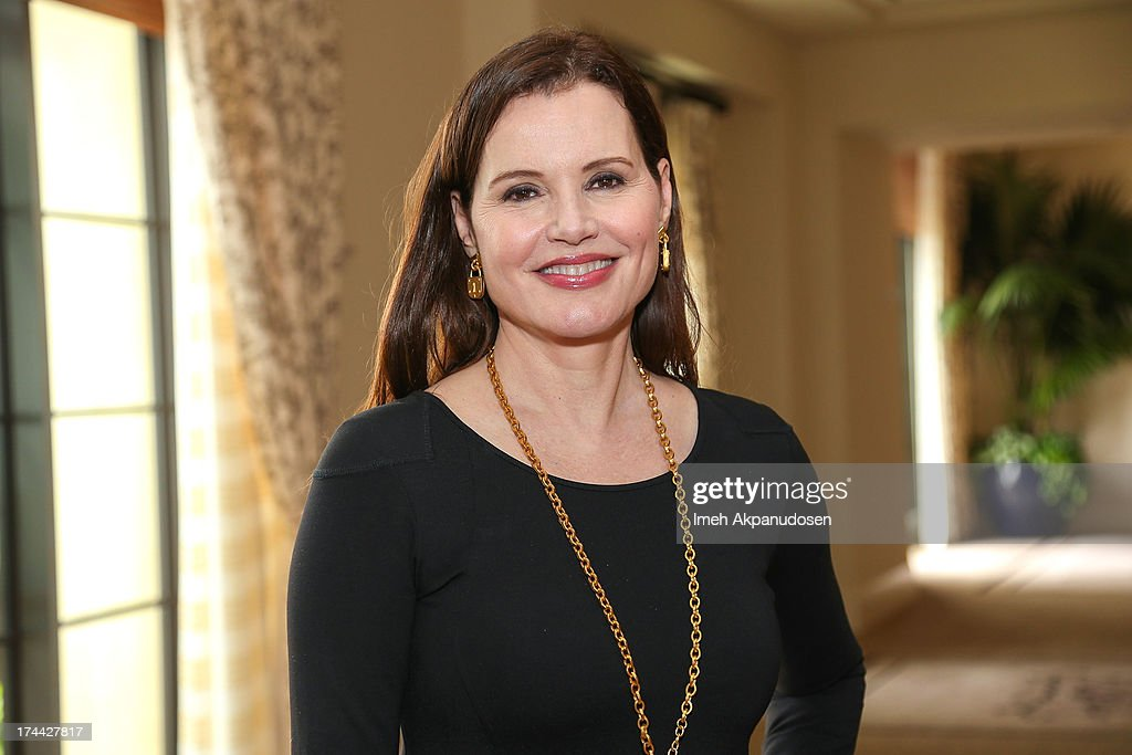 Actress <a gi-track='captionPersonalityLinkClicked' href=/galleries/search?phrase=Geena+Davis&family=editorial&specificpeople=209423 ng-click='$event.stopPropagation()'>Geena Davis</a> attends the 2013 NEW Executive Leaders Forum at Terranea Resort on July 25, 2013 in Rancho Palos Verdes, California.