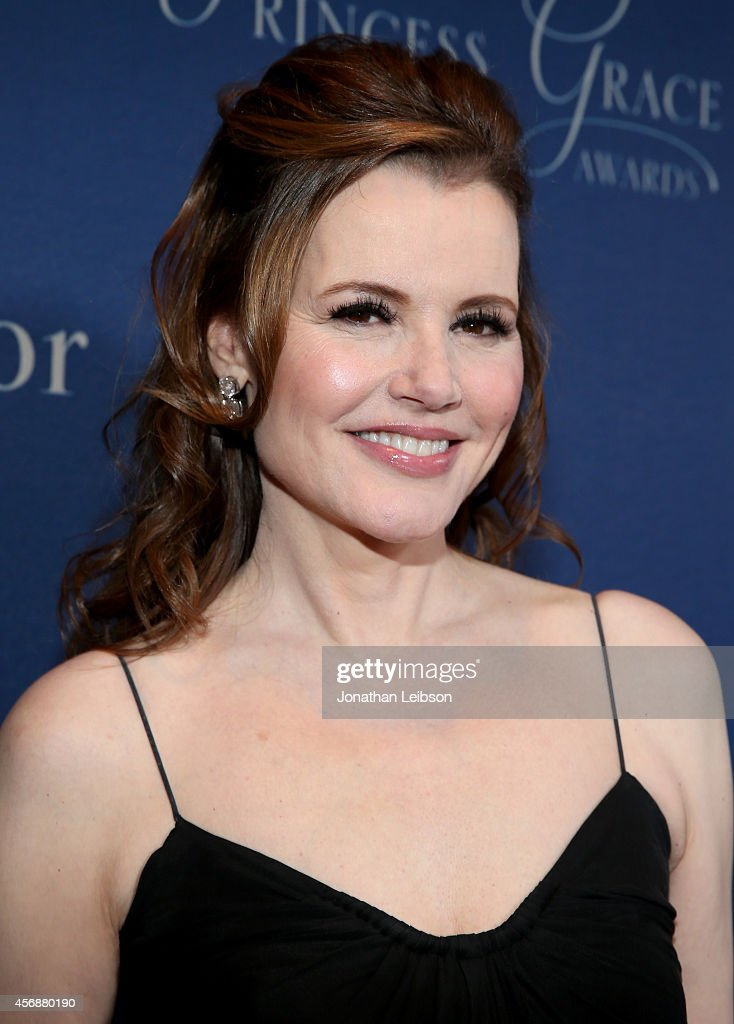 Actress Geena Davis attends the 2014 Princess Grace Awards Gala with presenting sponsor Christian Dior Couture at the Beverly Wilshire Four Seasons...