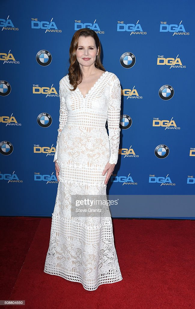 Actress Geena Davis attends the 68th Annual Directors Guild Of America Awards at the Hyatt Regency Century Plaza on February 6 2016 in Los Angeles...