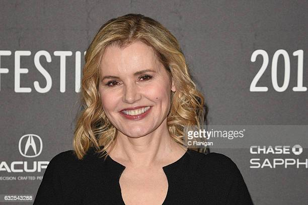 Actress Geena Davis attends the 'Marjorie Prime' Premiere at Eccles Center Theatre on January 23 2017 in Park City Utah