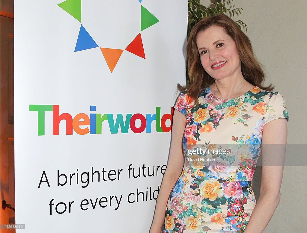 Actress Geena Davis attends the Theirworld & Astley Clarke summer reception in celebration of charitable partnership at the private residence of the British Consul General in Los Angeles on June 2, 2015 in Los Angeles, California.