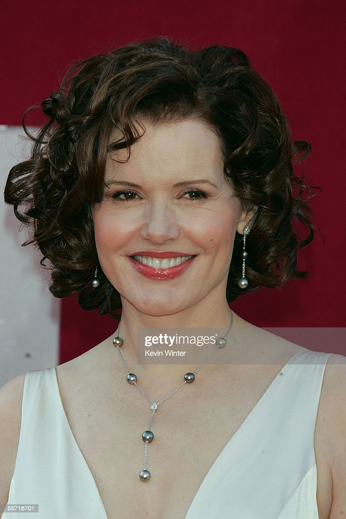 Actress Geena Davis from the ABC drama 'CommanderInChief' arrives at the 57th Annual Emmy Awards held at the Shrine Auditorium on September 18 2005...