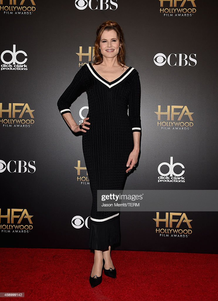 Actress Geena Davis poses in the press room during the 18th Annual Hollywood Film Awards at The Palladium on November 14, 2014 in Hollywood, California.
