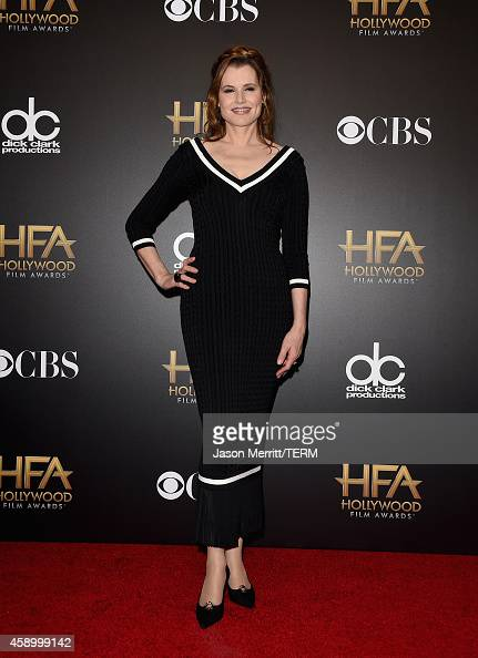 Actress Geena Davis poses in the press room during the 18th Annual Hollywood Film Awards at The Palladium on November 14 2014 in Hollywood California