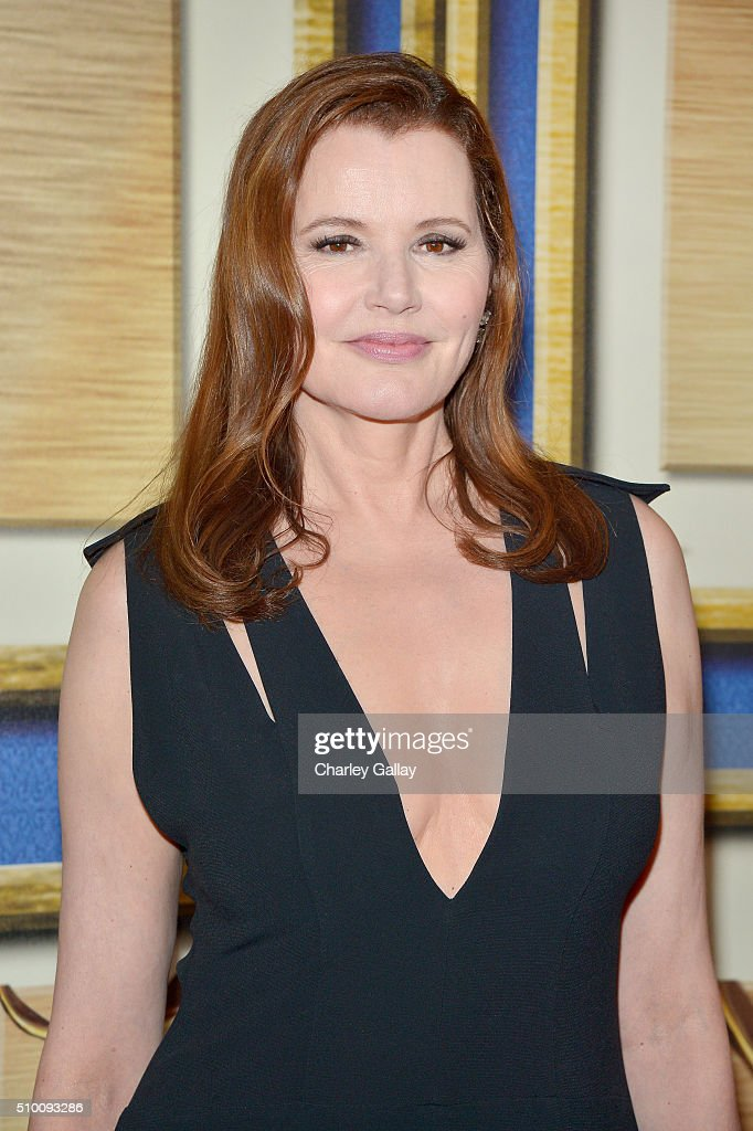 Actress <a gi-track='captionPersonalityLinkClicked' href=/galleries/search?phrase=Geena+Davis&family=editorial&specificpeople=209423 ng-click='$event.stopPropagation()'>Geena Davis</a> poses in the Press Room during the 2016 Writers Guild Awards at the Hyatt Regency Century Plaza on February 13, 2016 in Los Angeles, California.