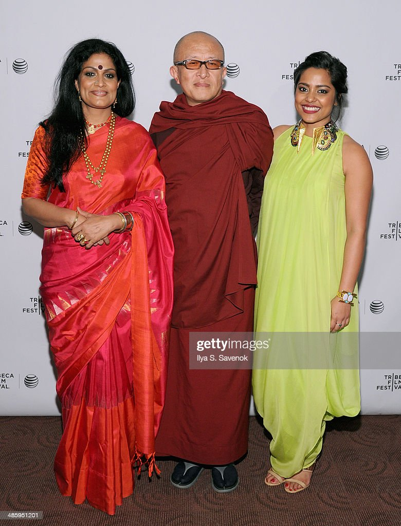 Actress Geeta Chandran, director Khyentse Norbu and actress Shahana Goswami attend the 'Vara: Blessing' Premiere during the 2014 Tribeca Film Festival at Chelsea Bow Tie Cinemas on April 21, 2014 in New York City.