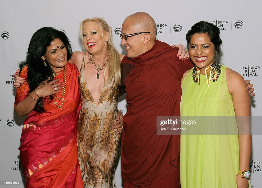 Actress Geeta Chandran, Whitney Ward, director Khyentse Norbu and actress Shahana Goswami attend the 'Vara: Blessing' Premiere during the 2014 Tribeca Film Festival at Chelsea Bow Tie Cinemas on April 21, 2014 in New York City.