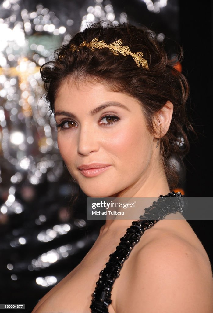 Actress Gemma Arterton arrives at the premiere of the movie 'Hansel And Gretel Witch Hunters' at TCL Chinese Theatre on January 24, 2013 in Hollywood, California.