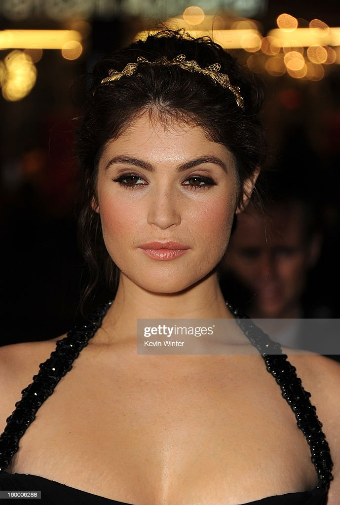 Actress Gemma Arterton arrives for the Los Angeles premiere of Paramount Pictures' 'Hansel And Gretel Witch Hunters' at TCL Chinese Theatre on January 24, 2013 in Hollywood, California.