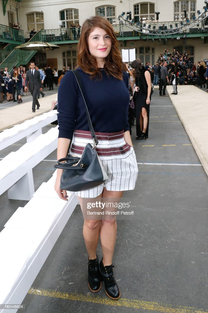 Actress <a gi-track='captionPersonalityLinkClicked' href=/galleries/search?phrase=Gemma+Arterton&family=editorial&specificpeople=4296305 ng-click='$event.stopPropagation()'>Gemma Arterton</a> attends Chloe show as part of the Paris Fashion Week Womenswear Spring/Summer 2014, held at Lycee Carnot on September 29, 2013 in Paris, France.