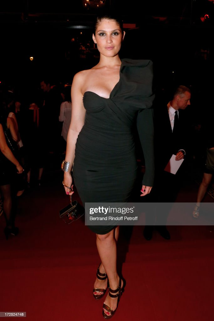 Actress <a gi-track='captionPersonalityLinkClicked' href=/galleries/search?phrase=Gemma+Arterton&family=editorial&specificpeople=4296305 ng-click='$event.stopPropagation()'>Gemma Arterton</a> attends 'Lancome show by Alber Elbaz' Party at Le Trianon on July 2, 2013 in Paris, France.