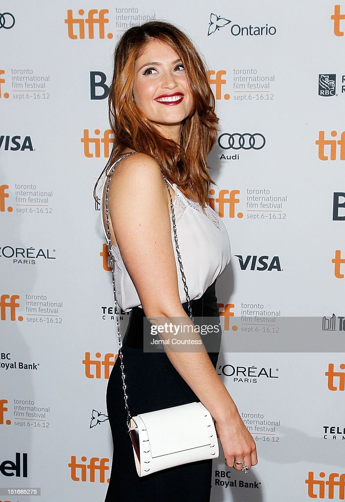 Actress Gemma Arterton attends the 'Byzantium' premiere during the 2012 Toronto International Film Festival at Ryerson Theatre on September 9, 2012 in Toronto, Canada.