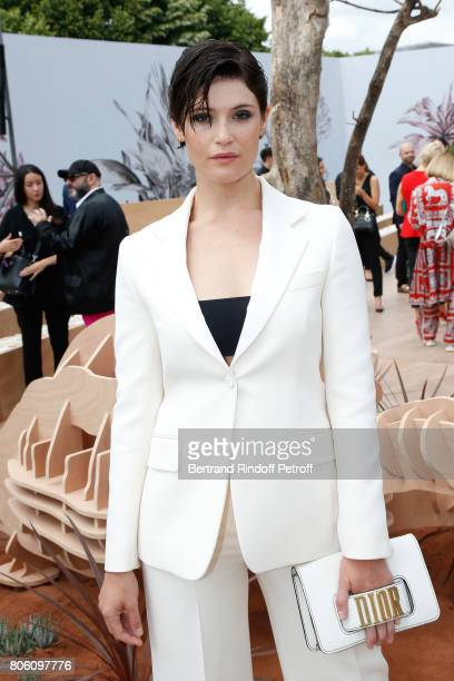 Actress Gemma Arterton attends the Christian Dior Haute Couture Fall/Winter 20172018 show as part of Haute Couture Paris Fashion Week on July 3 2017...